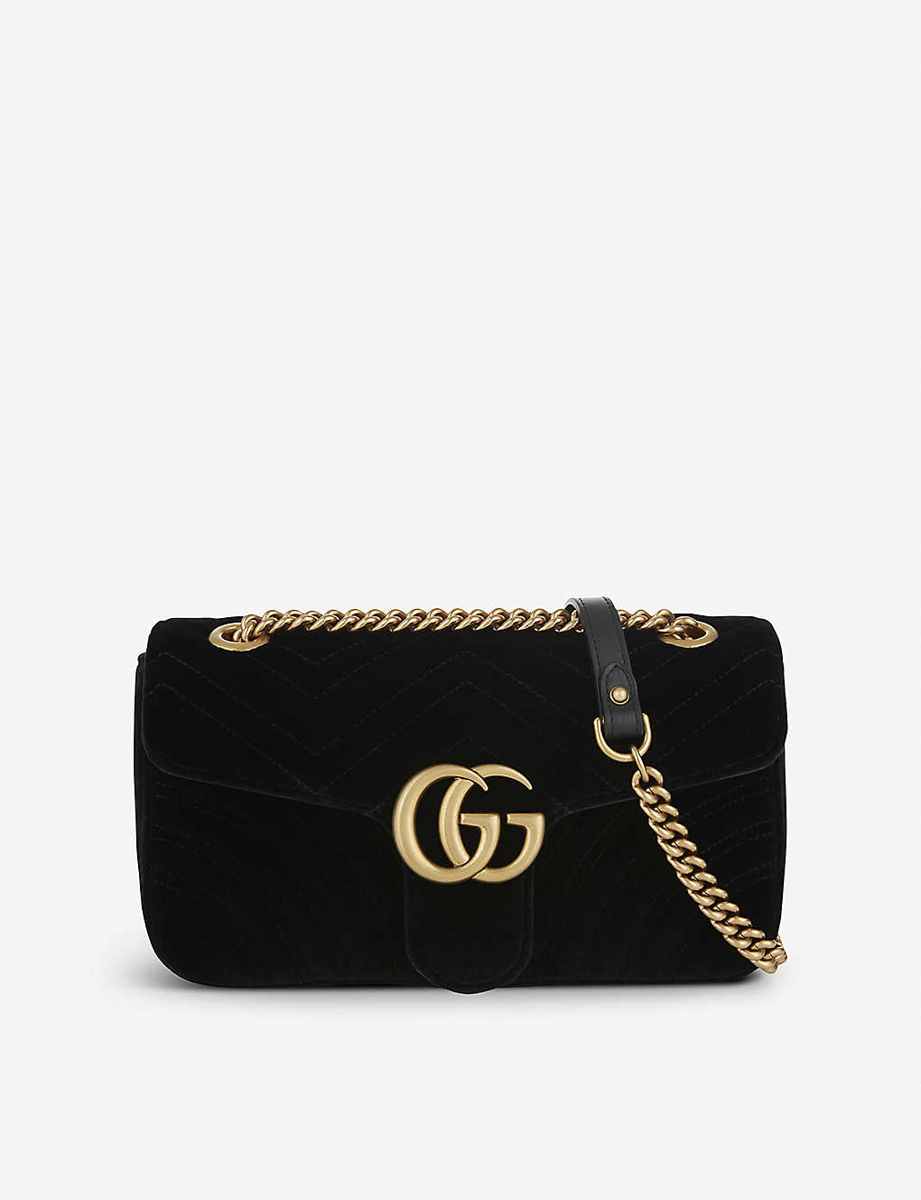771760837 GUCCI - Marmont small velvet shoulder bag | Selfridges.com
