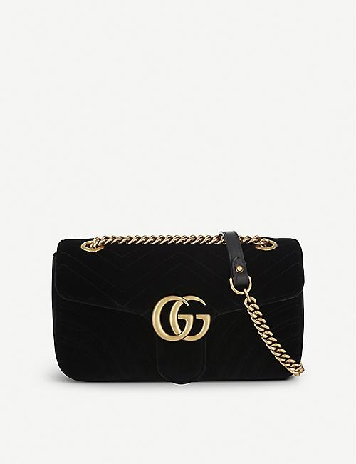 e0e331df649b GUCCI - Marmont small velvet shoulder bag