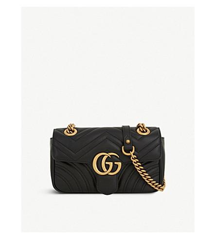 da53ceb4cdb91a GUCCI - Marmont GG mini leather cross-body bag | Selfridges.com