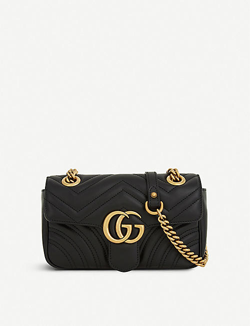 a145490e6df GUCCI Marmont GG mini leather cross-body bag