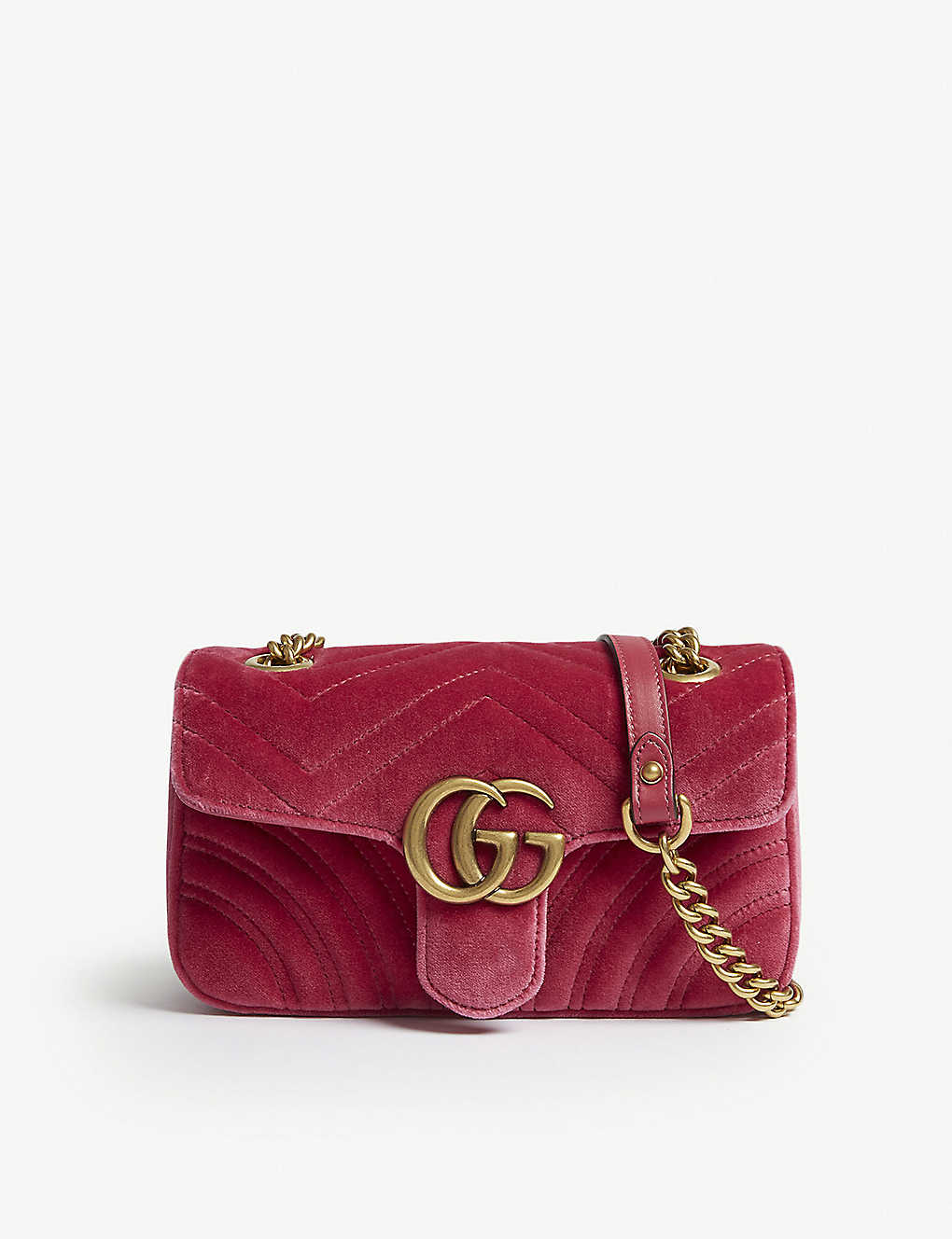 ce953d9eb0eeb1 GUCCI - GG Marmont mini velvet shoulder bag | Selfridges.com