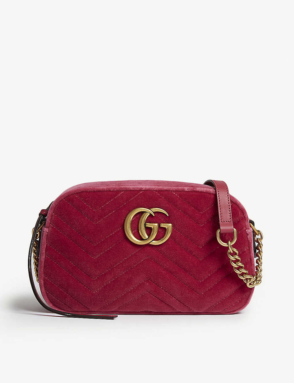 fbd98c18136279 GUCCI - GG Marmont small velvet shoulder bag | Selfridges.com
