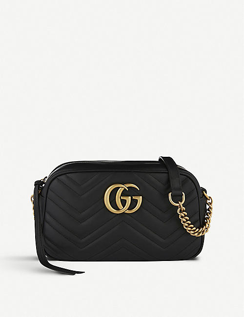 f1f01346c9 GUCCI - GG Marmont small leather shoulder bag | Selfridges.com