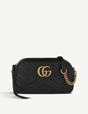 21c16cec GUCCI - Marmont matelassé leather shoulder bag | Selfridges.com