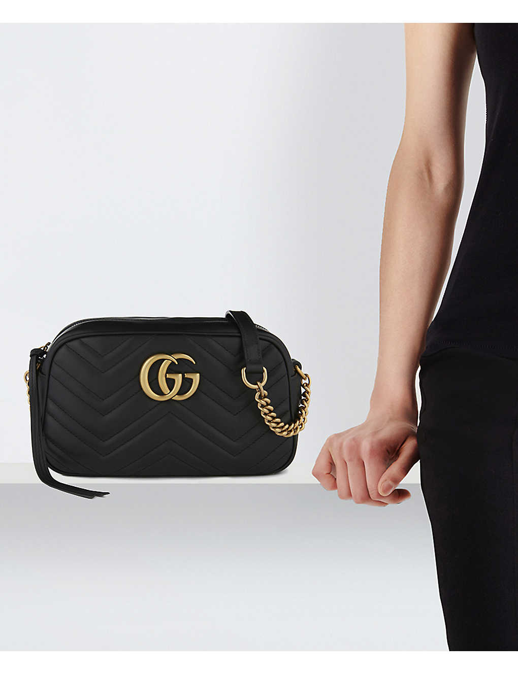 cd32cede34c GUCCI - Marmont matelassé leather shoulder bag