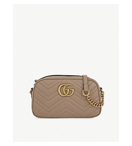 7e29e6b19a9 GUCCI Marmont leather shoulder bag (Porcelain+rose