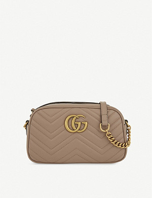 GUCCI GG Marmont small leather shoulder bag