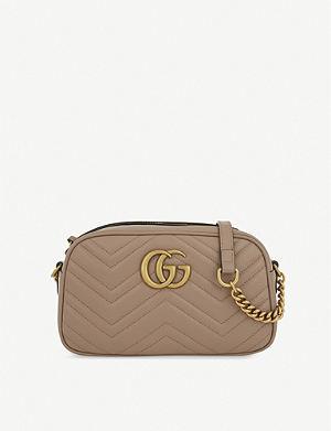 fa00f36b23d3 GUCCI - Sylvie floral leather cross-body bag | Selfridges.com