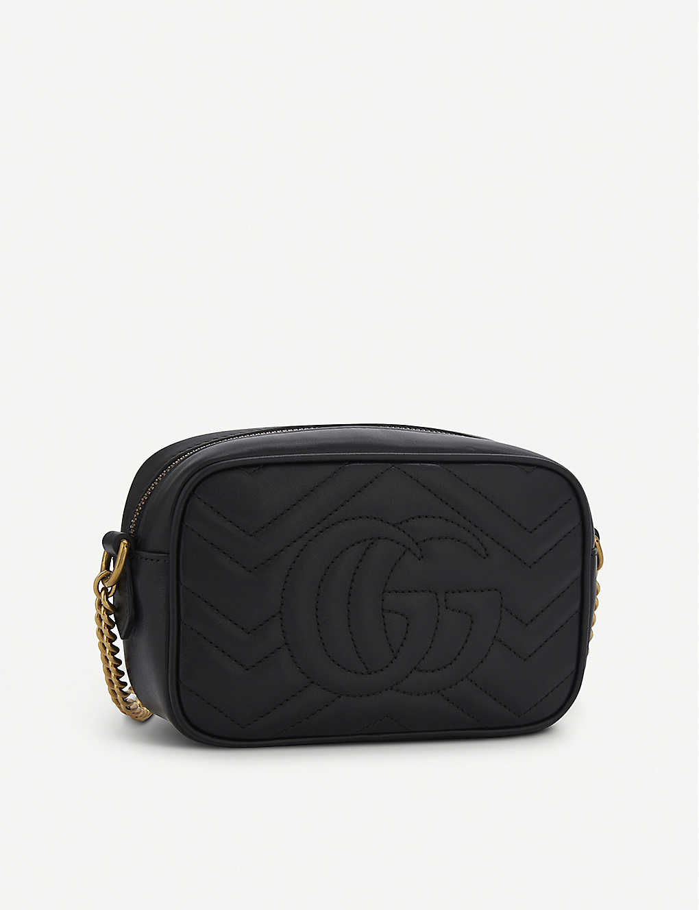 f581cd97e172 GUCCI - GG Marmont mini quilted leather cross-body bag | Selfridges.com