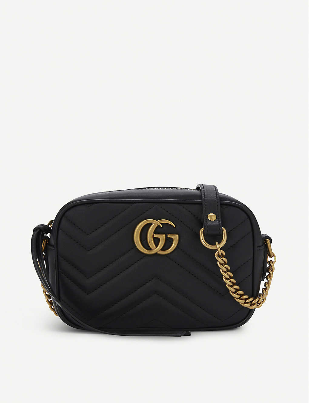 eb71d312f9d284 GUCCI - GG Marmont mini quilted leather cross-body bag | Selfridges.com