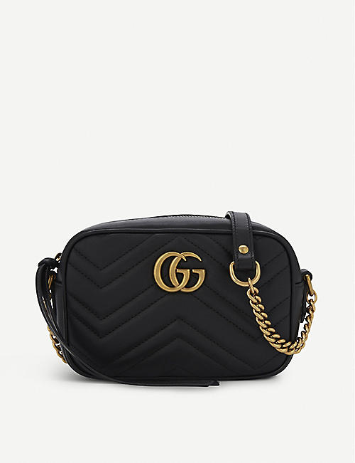 fca58a3831a7 GUCCI GG Marmont mini quilted leather cross-body bag