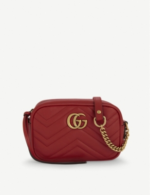 GUCCI GG Marmont mini quilted leather cross-body bag