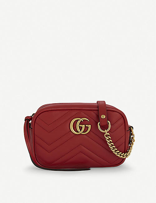 c8202d4c2926 GUCCI GG Marmont mini quilted leather cross-body bag