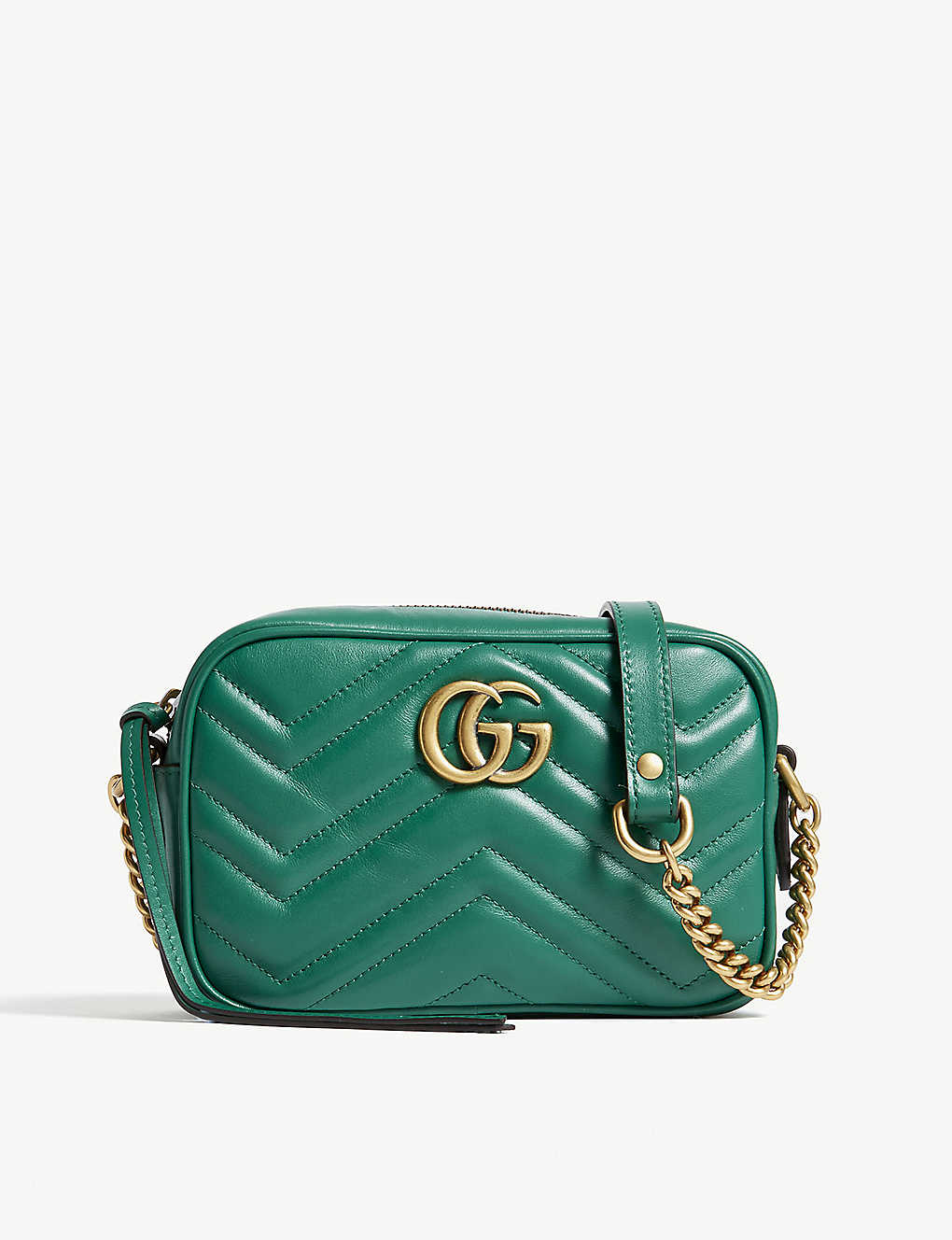 f33bd1d28848d2 GUCCI - GG Marmont mini leather camera cross-body bag | Selfridges.com