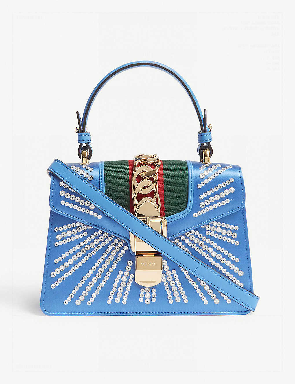 7b8bb48d28f7 GUCCI - Sylvie satin mini bag | Selfridges.com