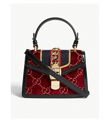 43684e9df3de ... GUCCI Sylvie mini velvet bag (Red. PreviousNext
