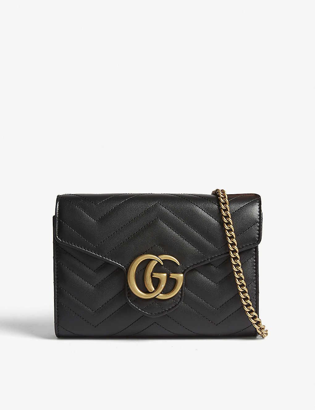 f348af1183d72b GUCCI - Marmont GG leather wallet-on-chain | Selfridges.com