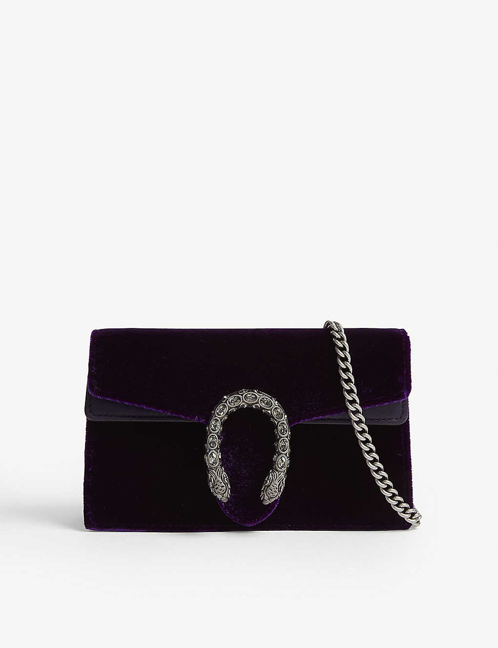 927e0f328f84 GUCCI - Dionysus supermini velvet bag   Selfridges.com