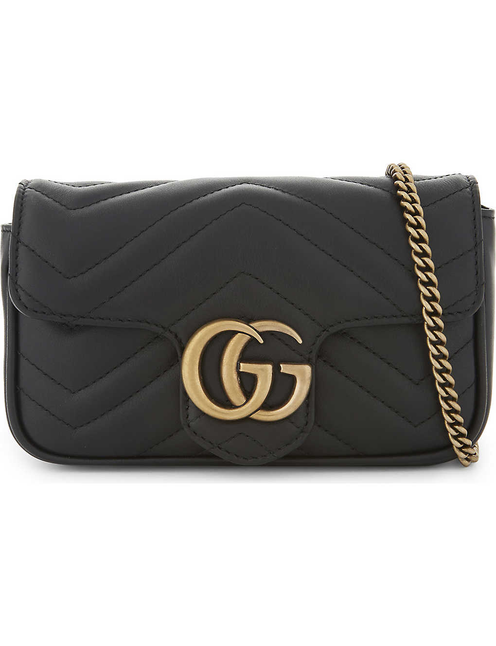 e6e97f0958b2a6 GUCCI - Marmont Super Mini leather shoulder bag | Selfridges.com