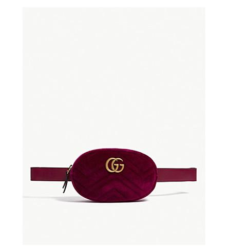 GUCCI - GG velvet belt bag
