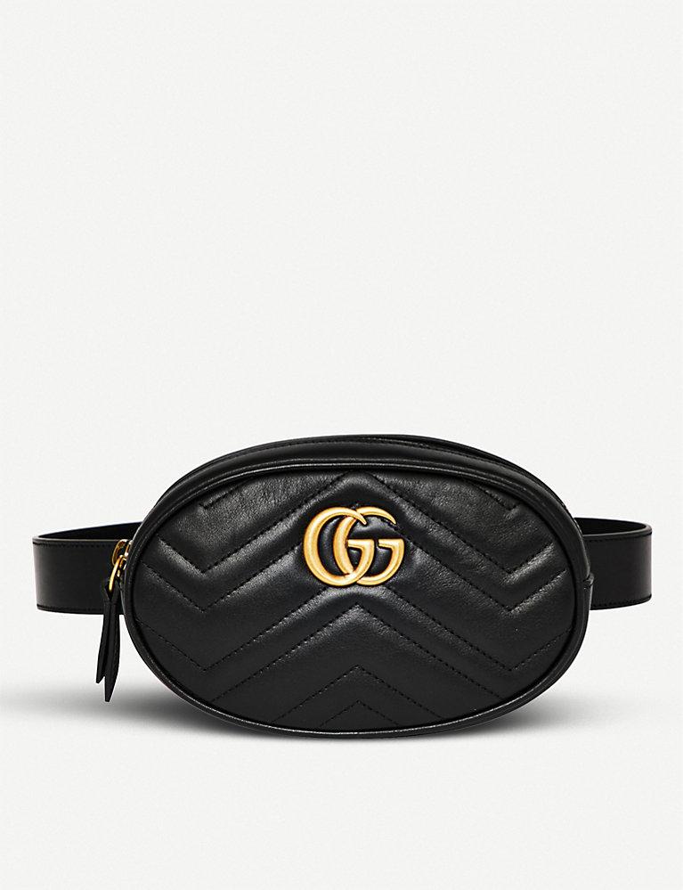 8864d41ab GUCCI - Marmont quilted leather belt bag   Selfridges.com
