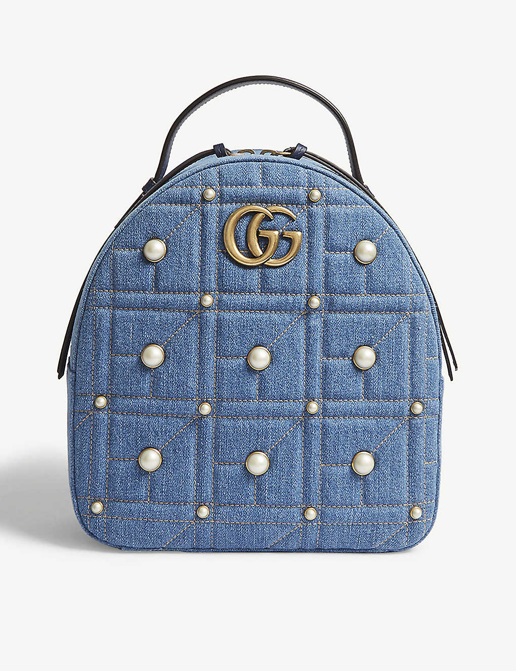 66f2b38a4dcc98 GUCCI - GG Marmont denim backpack | Selfridges.com