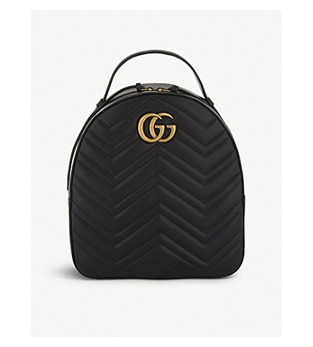 ae15363b403 GUCCI GG Marmont quilted leather backpack (Black