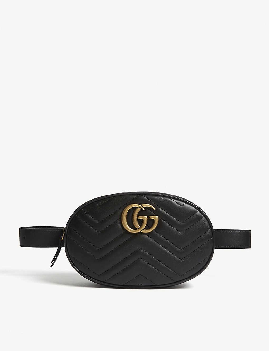 3d5684137c9 GUCCI - Marmont quilted leather belt bag | Selfridges.com