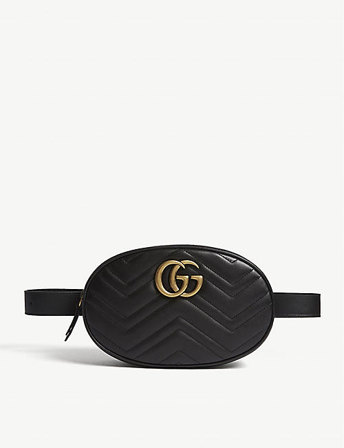 GUCCI: Marmont quilted leather belt bag