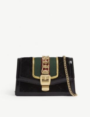 GUCCI Slyvie super mini velvet clutch