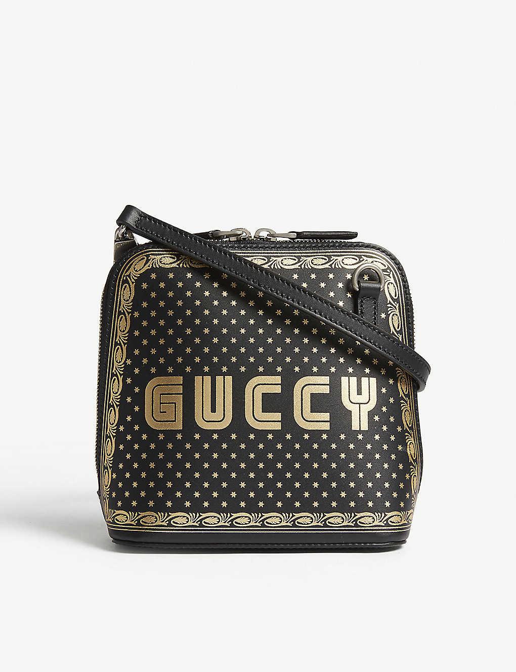 0727f6abb7a GUCCI - Guccy mini leather shoulder bag