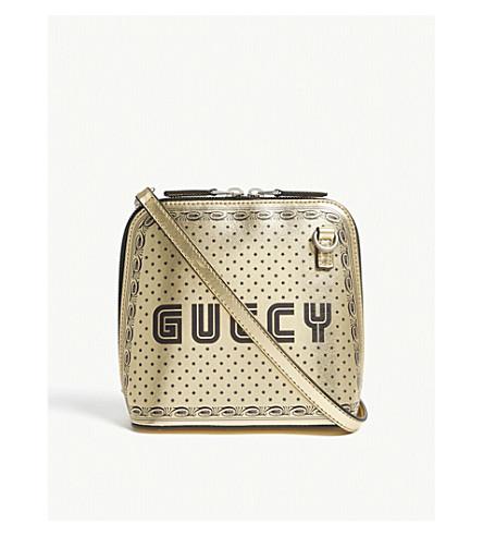 9cb4b79e561 GUCCI Guccy small leather cross-body bag (Gold