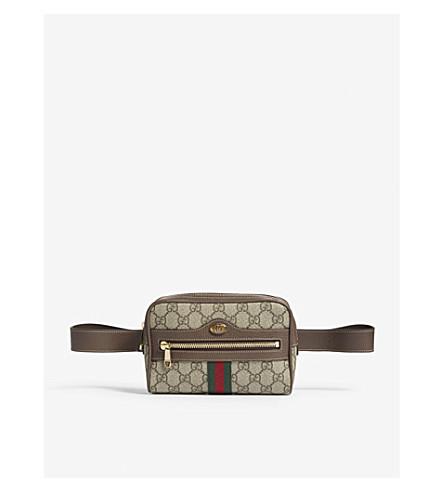 Gg Supreme Belt Bag, Brown