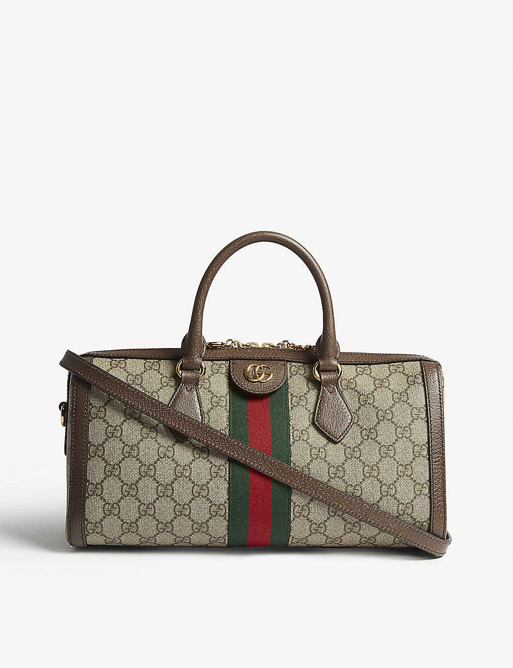 08403996353 GUCCI - Ophidia Boston GG Supreme bowling bag