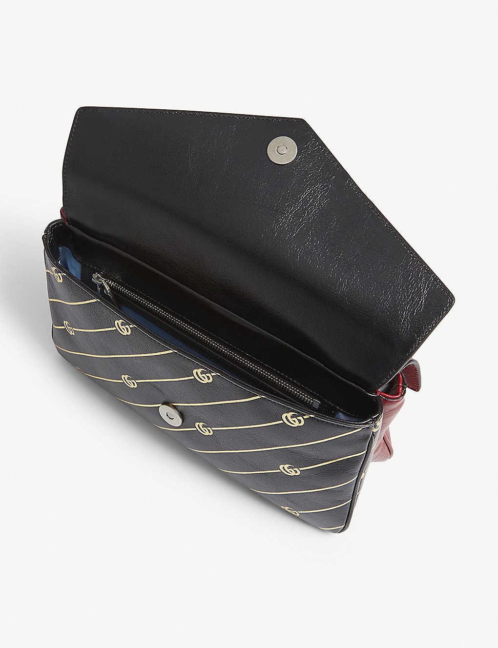 bcdedeff122 GUCCI - Thiara embellished printed leather shoulder bag