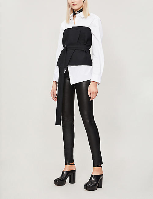 b9fd61c5b1cf5 Leather - Trousers - Clothing - Womens - Selfridges | Shop Online