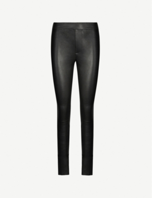 HELMUT LANG Skinny stretch-leather leggings