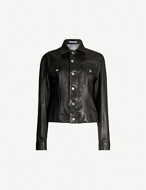 HELMUT LANG Pocket-detail leather jacket