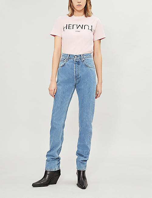 HELMUT LANG Faded straight high-rise jeans