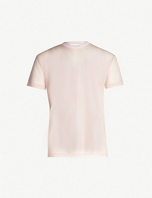 HELMUT LANG Logo-embroidered stretch-jersey T-shirt