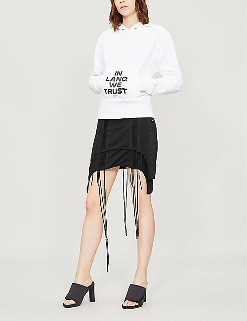 HELMUT LANG Generic text-print cotton-jersey hoody