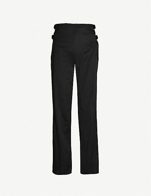 ea725ef8a8b1 HELMUT LANG Buckle-detail straight cotton trousers