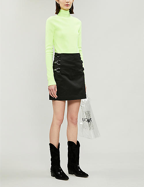 HELMUT LANG High-neck ribbed jersey top
