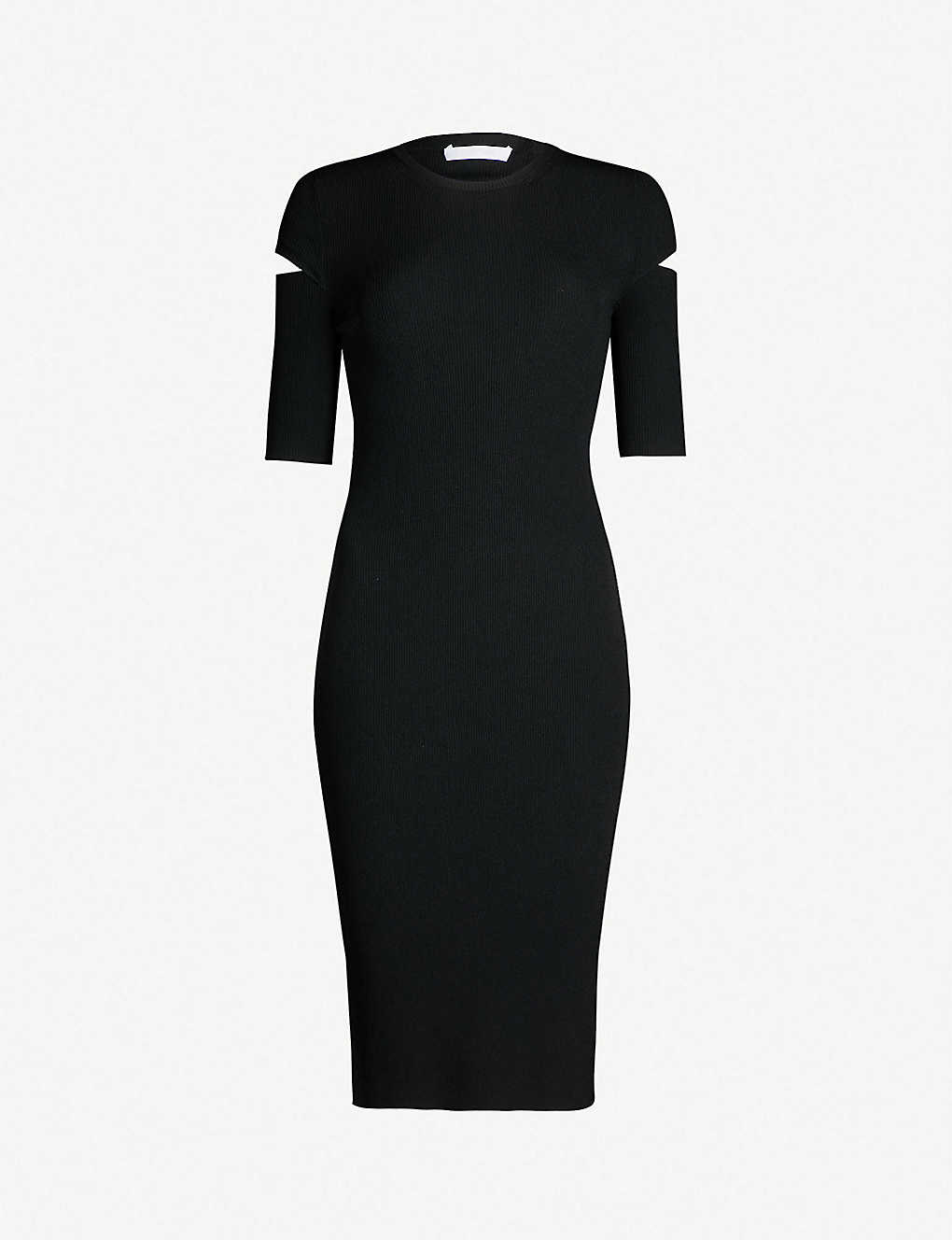 8b59feb77eb2 HELMUT LANG - Cutout-sleeve jersey dress | Selfridges.com