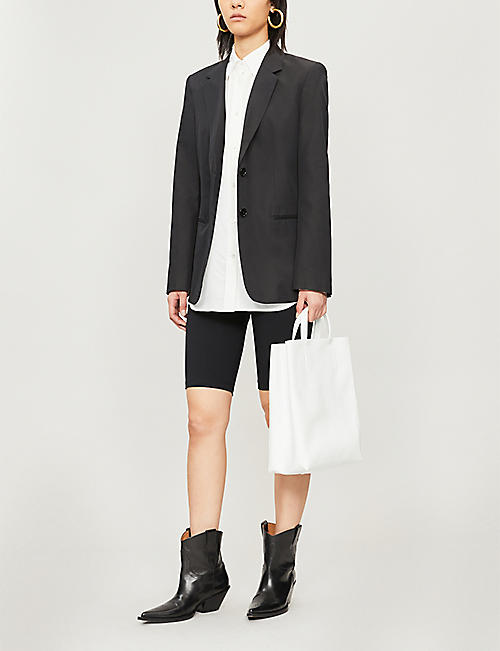 HELMUT LANG Relaxed-fit crepe shirt