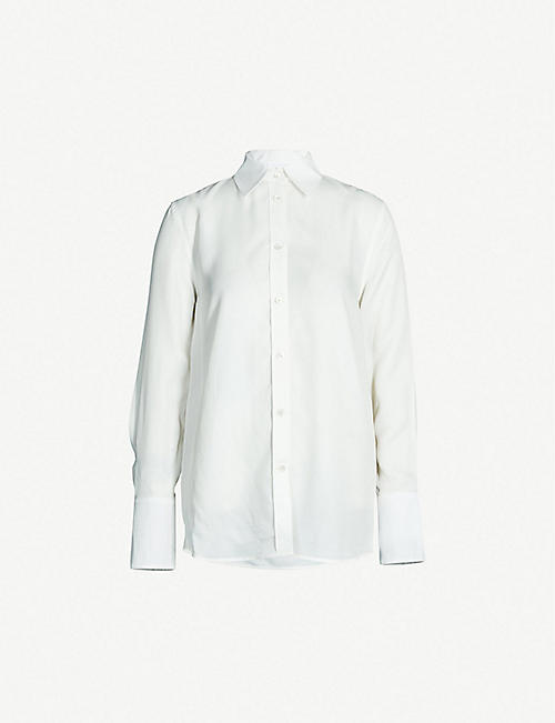 b49855c0f0c8 HELMUT LANG Relaxed-fit crepe shirt