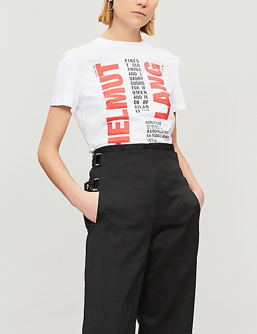 a3922ef21 HELMUT LANG - Logo-print cotton T-shirt | Selfridges.com