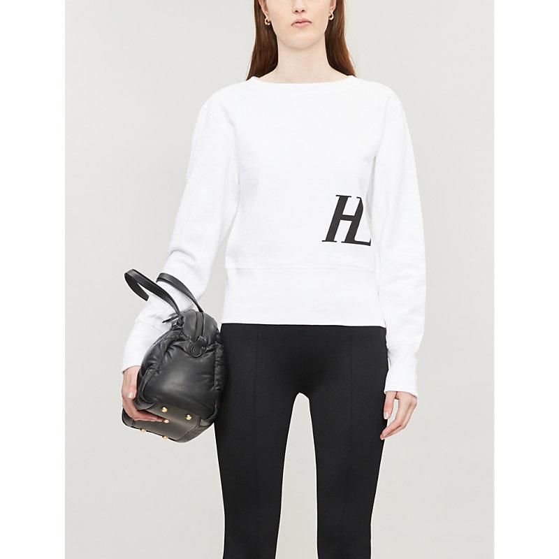Helmut Lang T-shirts FEMME LOGO-PRINT COTTON-JERSEY SWEATSHIRT
