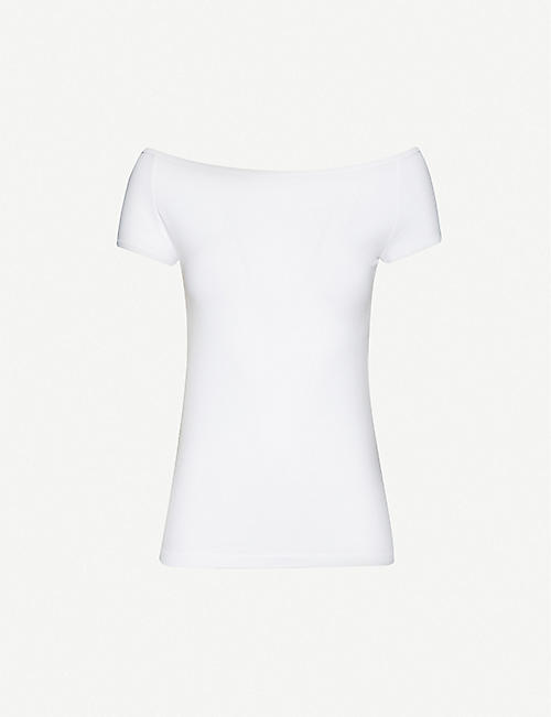 HELMUT LANG Boat-neck stretch-jersey T-shirt