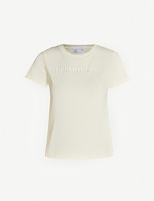 HELMUT LANG Baby logo-embroidered cotton-jersey T-shirt